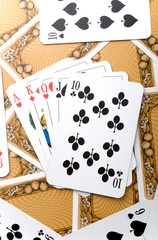 playing cards background texture