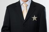 boss patron sheriff étoile chief chef homme affaire commandant m poster