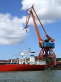 Shipping industry crane 03 poster