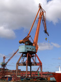 Shipping industry crane 06 poster