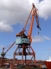 Shipping industry crane 06