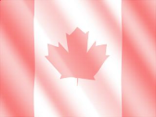 halftone rippled Canadian flag
