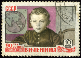 Stamps on blacke background,Russia.