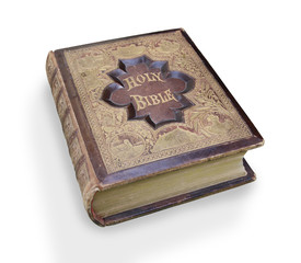 Isolated Antique Bible.