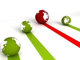 three dimensional profit and loss globes....