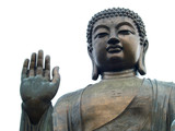 Thirty metre high Lantau Buddha statue in Hongkong, China poster