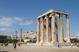The Temple of Olympian Zeus, also known as the Olympieion poster