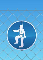 Panneau de protection obligatoire des chutes