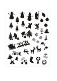 Fototapety christmas vector silhouettes