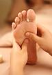 Leinwanddruck Bild - reflexology foot massage