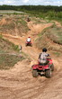The riding on a quad