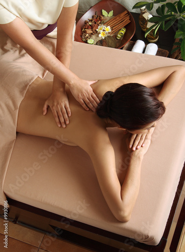 getting massage in a day spa