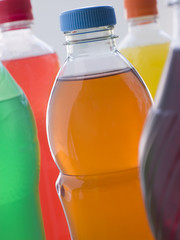 Selection Of Fizzy Drink Bottles