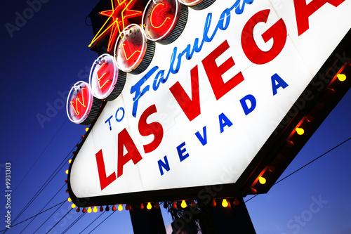 Welcome to Las Vegas sign close-up. Las Vegas, Nevada, USA