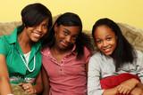 Fototapety Three cute teenage sisters together