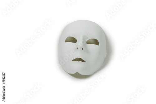 Plain White Mask ready for decorating