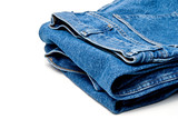 The always fashionable and stylish blue denim jeans. poster