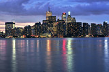 Scenic view at Toronto city waterfront skyline at night poster