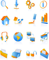 icons and symbols for websites and internet
