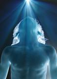 lueur divine corps malade science progrès lumière santé buste poster