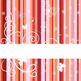 Red banner. Vector illustration