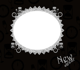 New Year Frame - isolated clipping. space for image & Text