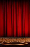 rideau spectacle scène théatre concert cabaret salle velour arti