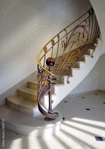 rampe d 39 escalier en fer forg photo libre de droits sur la banque d 39 images image. Black Bedroom Furniture Sets. Home Design Ideas
