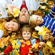 Leinwandbild Motiv family time 1 / cute family in autumn