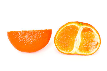 orange mandarin isolated on white