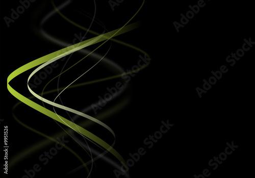 courbe design vert et sur fond noir abstrait illustration photo libre de droits sur la. Black Bedroom Furniture Sets. Home Design Ideas