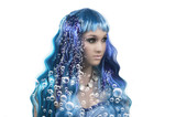 Mermaid and bubbles poster