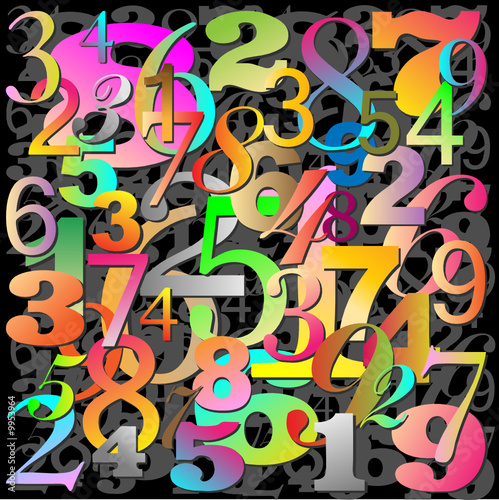 Abstract Background Pattern with Numbers