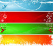 Various decorative Christmas backgrounds