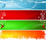 Various decorative Christmas backgrounds