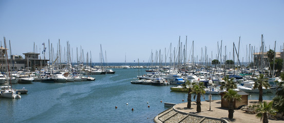 Panorama yacht port of Frejus (south france)