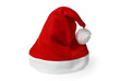 Red Santa hat isolated on pure white background