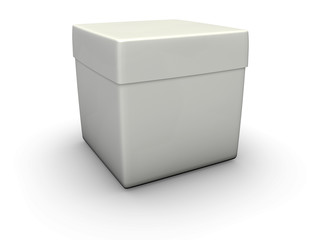 An isolated paper crate on white background