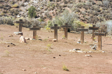 Set of Several Unknown Grave Crosses