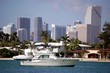 Sport Fishing Boat with Miami Highrises in the Background