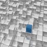 Fototapety 3d cubes town