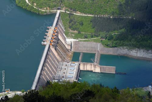 Foto op Canvas Dam Water barrier dam, Perucac, river Drina, Serbia