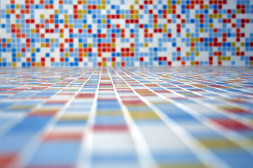Colored tiled landscape for presentations and websites