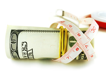 dollar grows thin, one hundred dollar bill roll