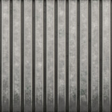 Some corrugated metal / building material with ridges. poster