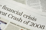 Newspaper headlines - finanical crisis on 2008 poster
