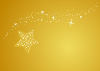 gold merry christmas background, star