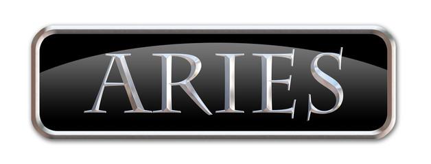 Boton con las letras del signo zodiacal Aries