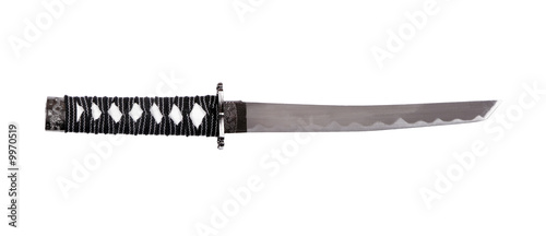 Japanese Steel Sword On White Background