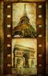 Parisian pictures - vihtage filmstrip